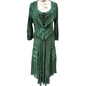 Dresses & Skirts - Medieval Renaissance Dress 2 Piece w/ Jacket Maxi